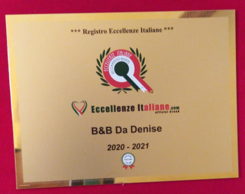 B&B Da Denise - Registro Eccellenze Italiane